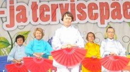 «Тайчи-веера» на дне семьи и здоровья в «Пыхья-Таллинне»